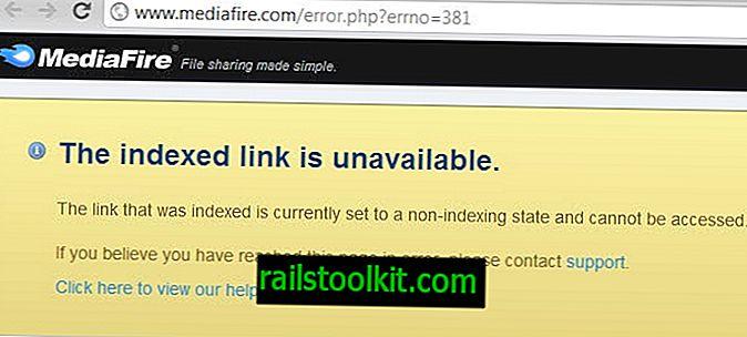 MediaFire lejupielādes saites vietnē Google meklēšana vairs nedarbojas