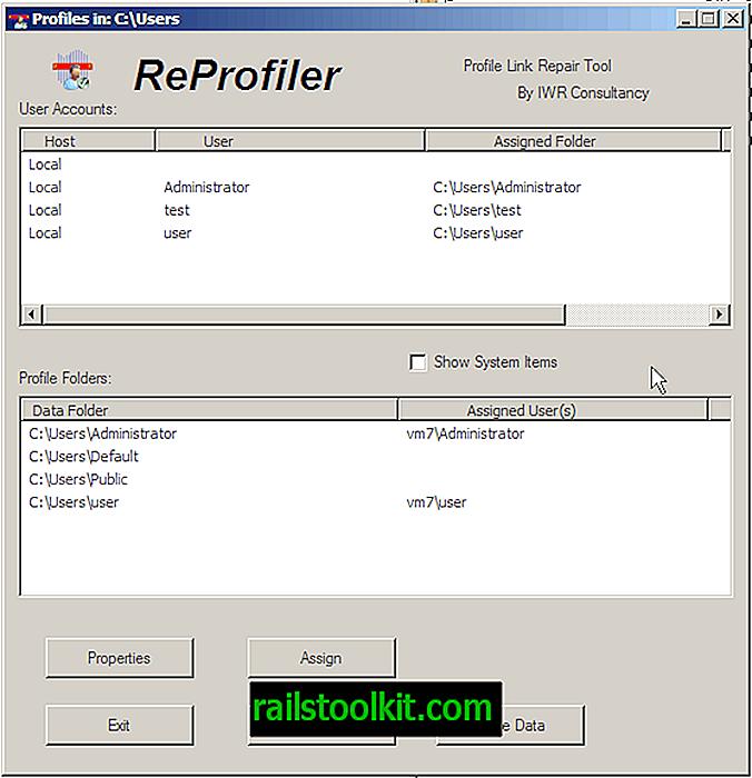 Reprofiler opravuje chyby uživatelského profilu Windows
