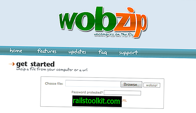 WobZip, descomprime archivos en línea