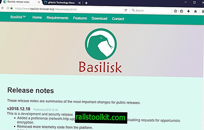 Basilisk-Browser beendet die WebExtension-Unterstützung