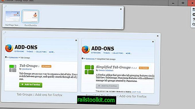 Välilehtiryhmien lisäys lisää täydet välilehtiryhmittelytoiminnot Firefoxiin