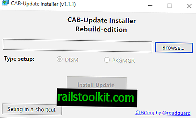 Cab Update Installer voor Windows