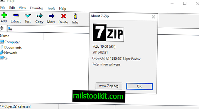 7-Zip 19.00 disponible