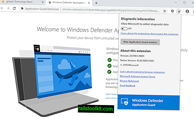 Un aperçu de l'extension Windows Defender Application Guard pour Firefox et Chrome
