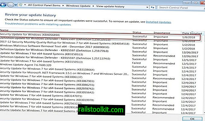 Fix Windows 7 BSOD 0x000000c4 nach der Installation von KB4056894