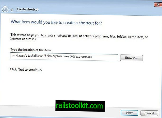 Рестартирайте Windows Explorer explor.exe с пряк път