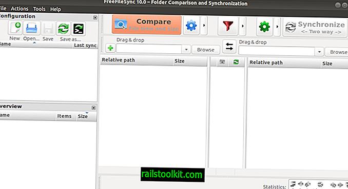 As atualizações do FreeFileSync 10.0 remove os anúncios do instalador