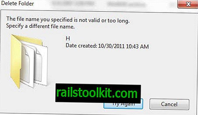 Korrektur: Datei kann nicht gelöscht werden, der angegebene Dateiname ist ungültig oder zu lang