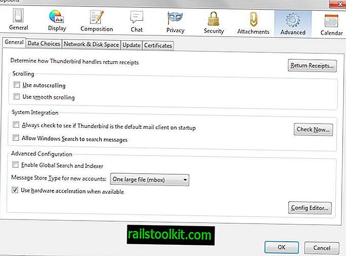 Fiókok rendezése a Thunderbird e-mail kliensben manuálisan
