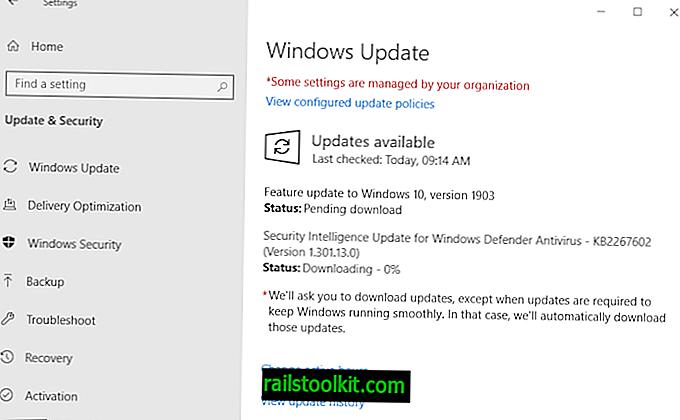 Sekiranya anda tidak ditawarkan versi Windows 10 1903, cuba nyahaktifkan penyulitan cakera keras