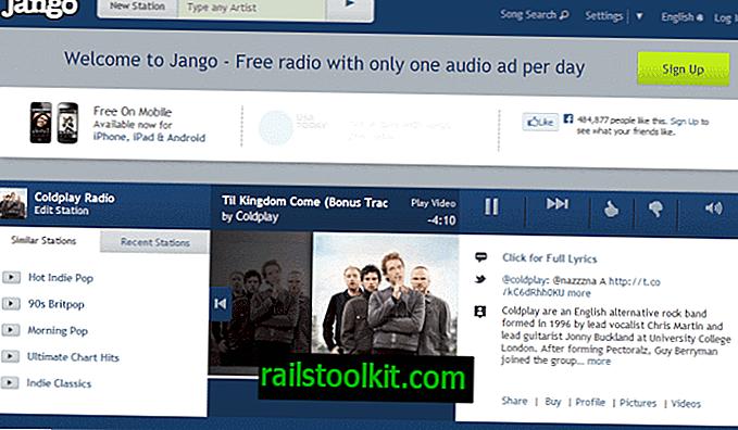 Jango Radio ist wie Pandora, jedoch ohne Ländereinschränkung