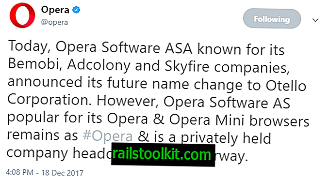 Opera Software ASA cambia su nombre a Otello Corporation