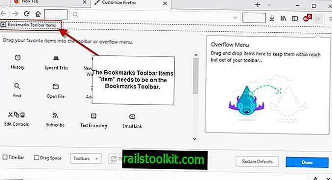 Firefox Bookmarks Toolbar no muestra marcadores