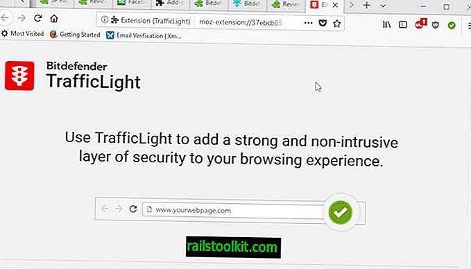 Firefox 용 Bitdefender TrafficLight 버전 2.0 릴리스