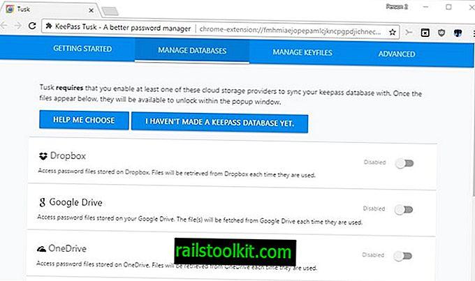 تاسك KeePass كلمة مرور متصفح الويب التمديد