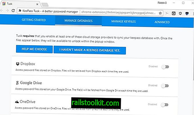 Tusk KeePass sambungan pelayar web kata laluan