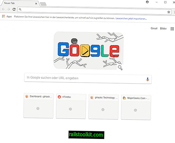 Comment obtenir 8 vignettes dans la nouvelle page à onglet dans Chrome 64