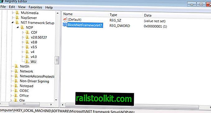 Blokování instalací .Net Framework 4.7