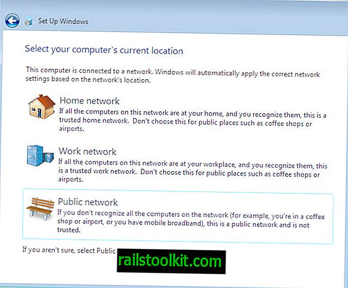 Windows hálózati helyek: különbségek az otthoni, a munkahelyi és a nyilvános hálózatok között