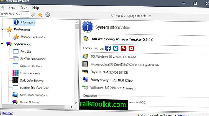 Winaero Tweaker 0.9 με πολλά νέα χαρακτηριστικά