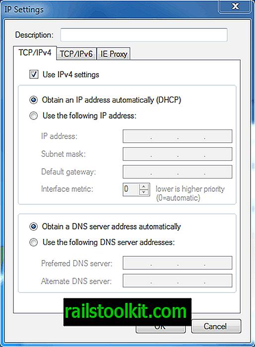 Mainiet IP adresi, izmantojot IP komutatoru