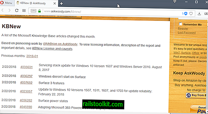 Χρονολογική λίστα όλων των ενημερωμένων άρθρων υποστήριξης της Microsoft KB