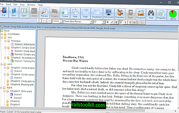 WriteWay Pro: software gratuito para escribir libros