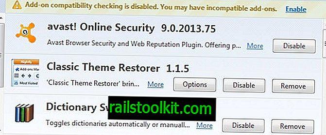 Bagaimana untuk membuang avast!  Keselamatan Dalam Talian dari Firefox