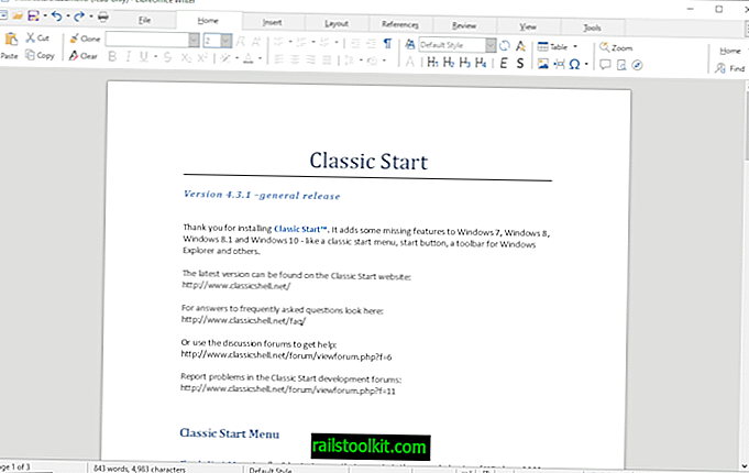 LibreOffice 6.2 avec une interface optionnelle de type ruban à onglets