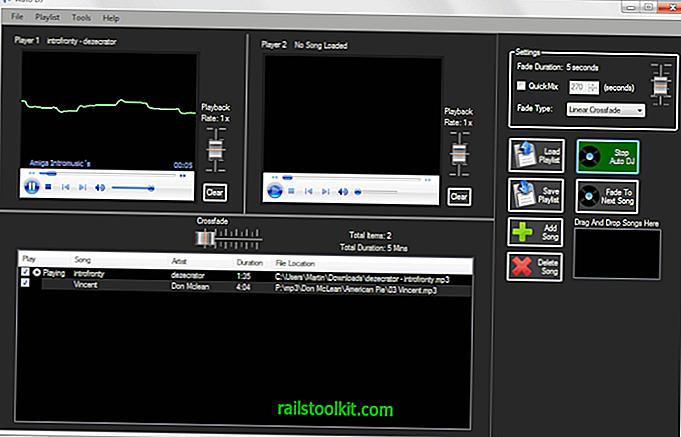 Auto DJ, besplatni softver za miješanje DJ-a