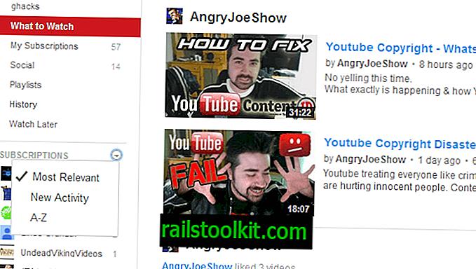 YouTubeサブスクリプションを並べ替える方法