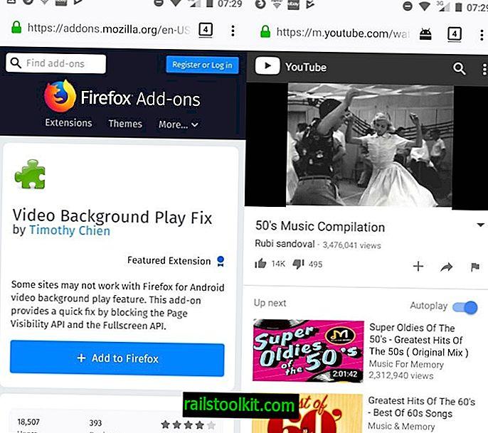 แก้ไขการเล่นพื้นหลังวิดีโอสำหรับ Firefox มือถือ