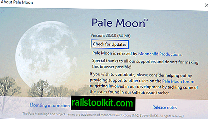 Rilascio di Pale Moon 28.3.0