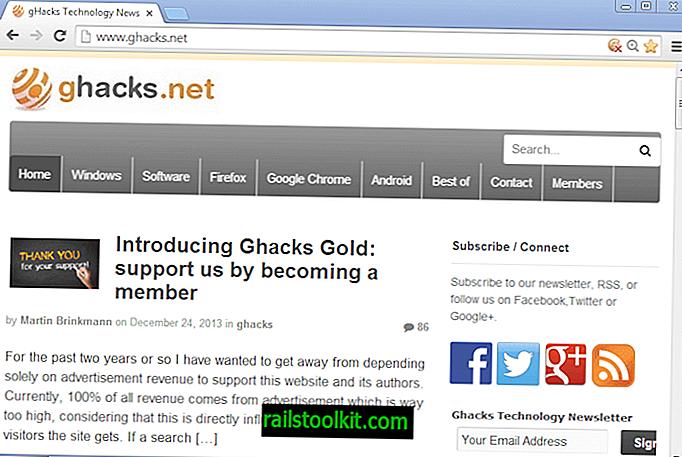 Bagaimana untuk memulihkan anak panah skrol dalam Google Chrome