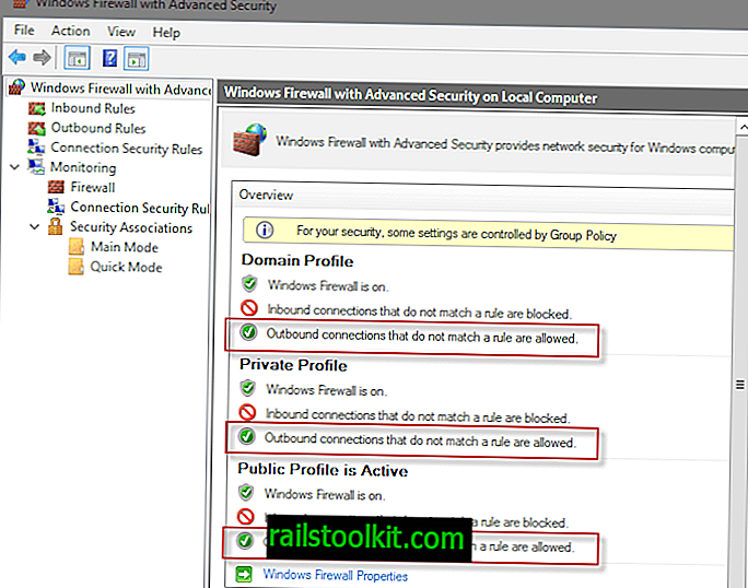 Blokujte veškerý odchozí provoz v bráně Windows Firewall