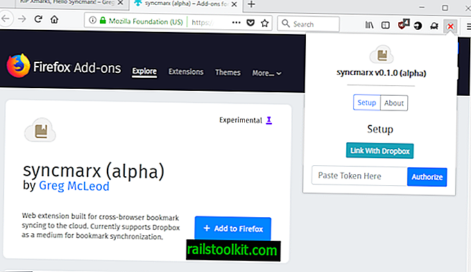 """""""Syncmarx"""" yra """"Xmarks"""" žymių sinchronizavimo alternatyva"""