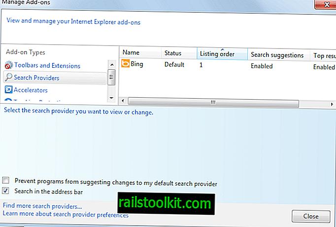 Ändern und Hinzufügen von Suchanbietern zu Internet Explorer 11
