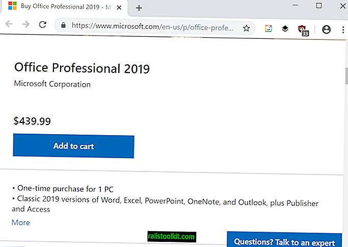 Мицрософт жели 439 долара за Оффице 2019 Профессионал