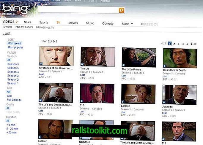 Bing videoposnetkov in bing iskanje tudi posodobitve