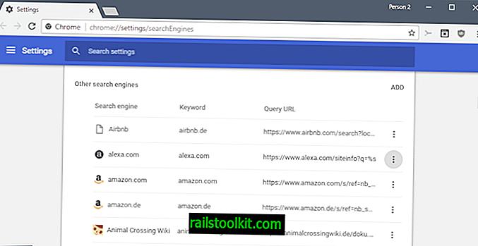 Benutzerdefinierte Suchmaschinen in Google Chrome