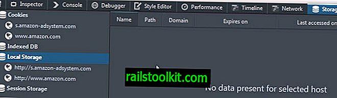選択したブラウザのWebストレージをクリアする方法