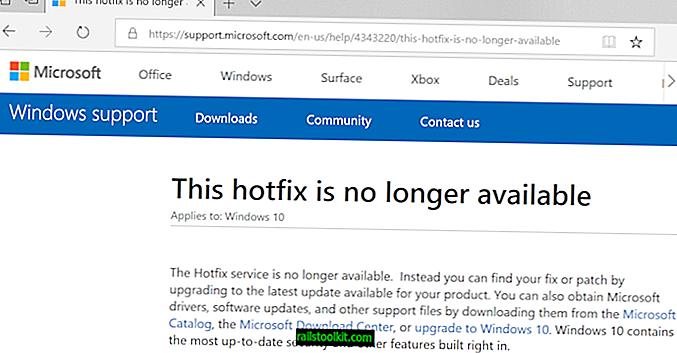 Microsoft 핫픽스 서비스는 더 이상 사용할 수 없습니다