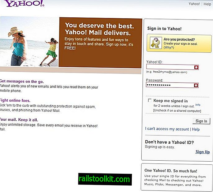 Yahoo Mail Login fejlfindingstip