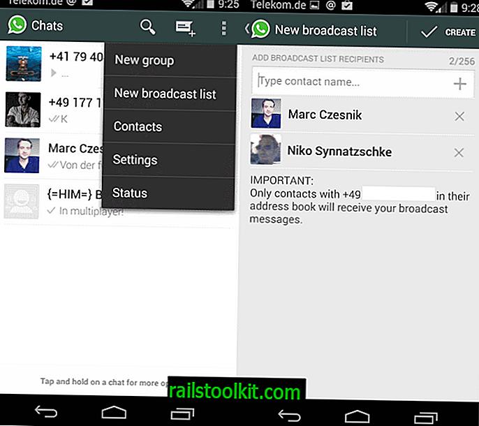 Différences entre les émissions et les discussions de groupe sur WhatsApp