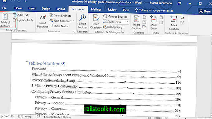 Come aggiungere un sommario a un documento di Word 2016