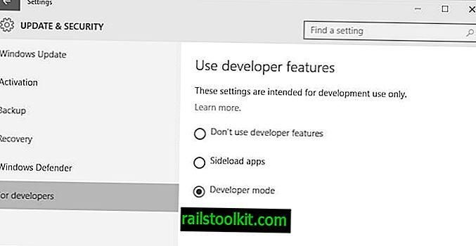 Kako v programu Windows 10 omogočiti način razvijalca za stranske aplikacije
