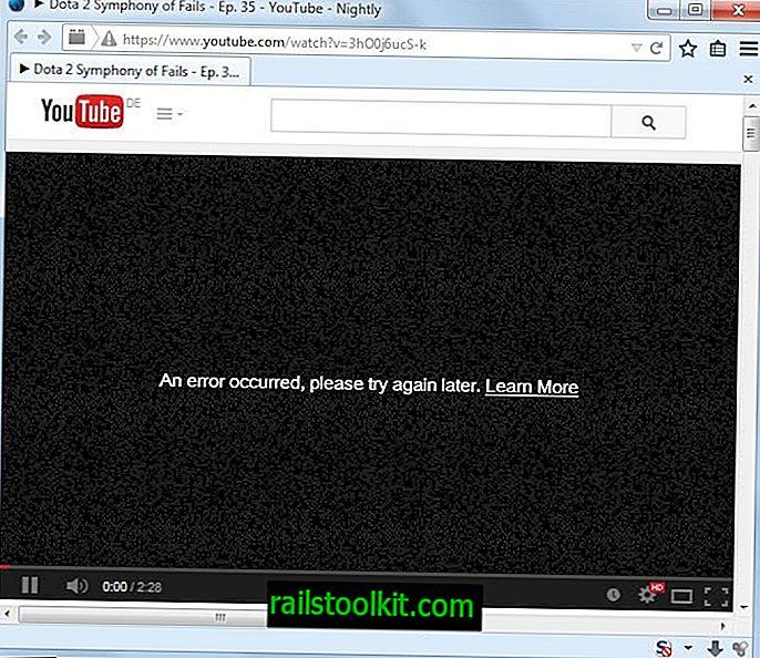 Odpravite napako, poskusite pozneje z napako YouTube