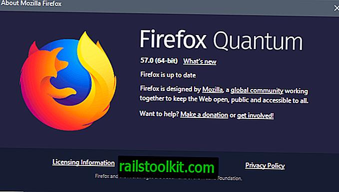 Firefox 57 - Versionsübersicht