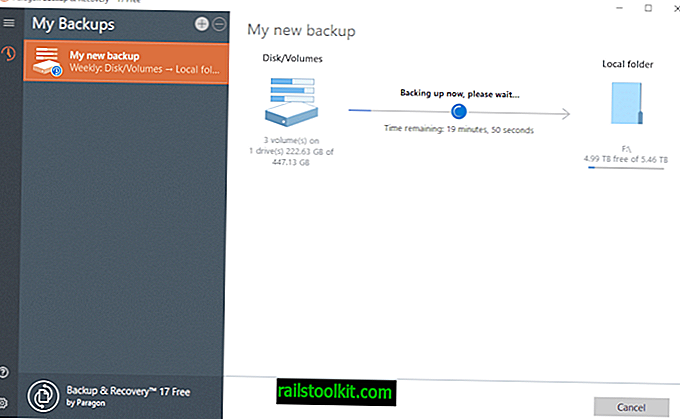 Un regard sur Paragon Backup & Recovery Free pour Windows