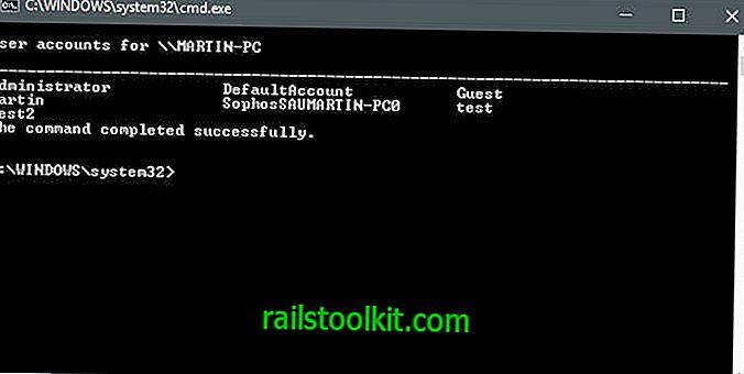 Správa uživatelů systému Windows pomocí služby Net User